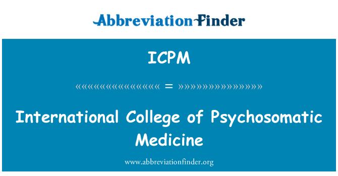 ICPM: Colegio Internacional de medicina psicosomática