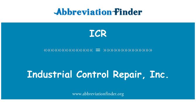 ICR: Industrial Control Repair, Inc.