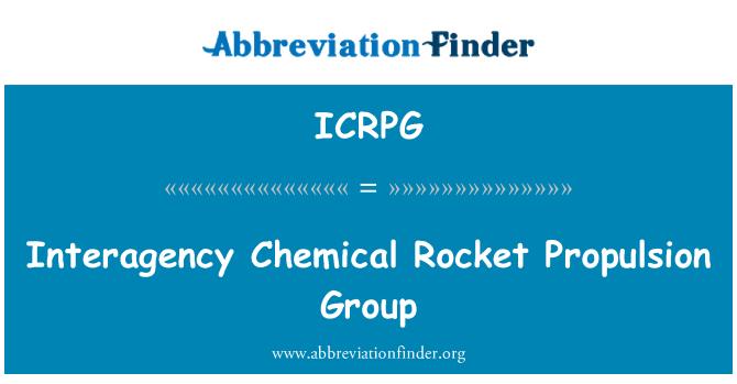 ICRPG: Mezirezortní chemické raketové pohonné skupiny