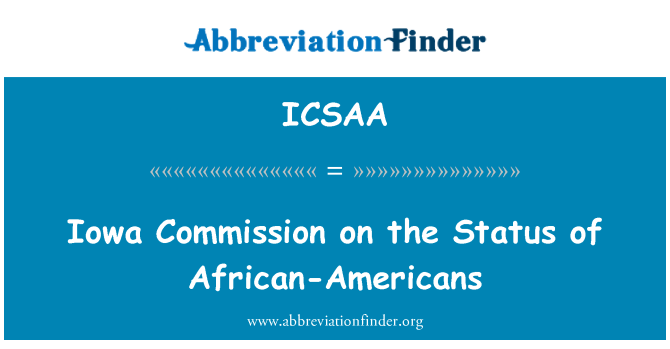 ICSAA: Iowa Commission on the Status of African-Americans