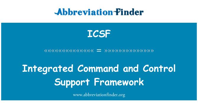 ICSF: Mando integrado y marco de apoyo Control
