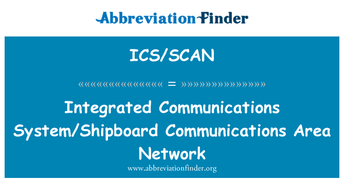 ICS/SCAN: Integrated Communications System/Shipboard Communications Area Network