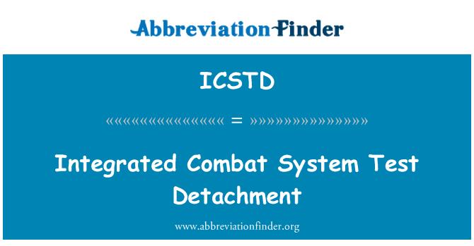 ICSTD: Integrált harci rendszer teszt leválás