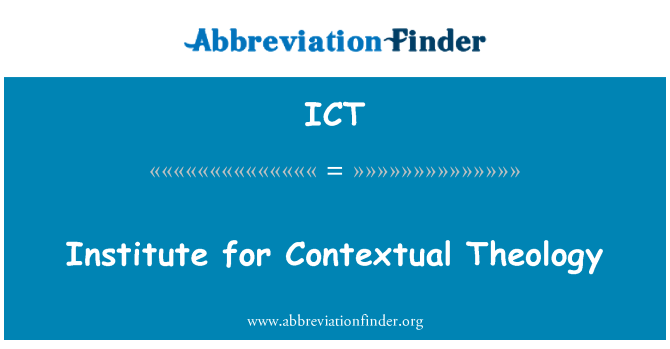 ICT: Institute for Contextual Theology
