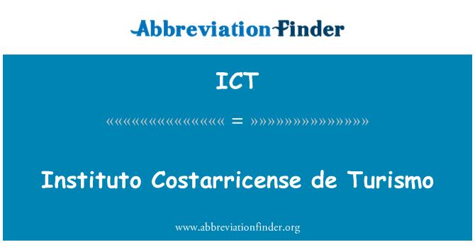 ICT: Instituto Costarricense de Turismo