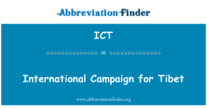 ICT: International Campaign for Tibet
