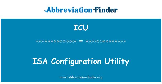 ICU: ISA Configuration Utility