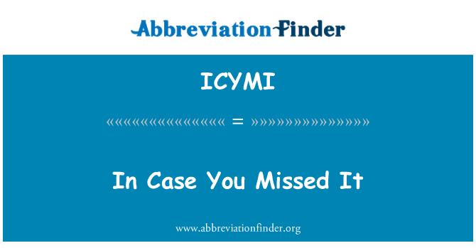ICYMI: En caso de que te lo perdiste