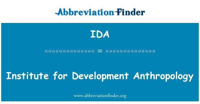 IDA: Institute for Development Anthropology