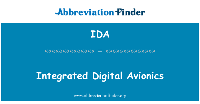 IDA: Integrated Digital Avionics