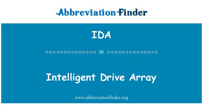 IDA: Intelligent Drive Array