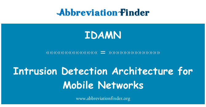 IDAMN: Intrusion Detection Architecture for Mobile Networks