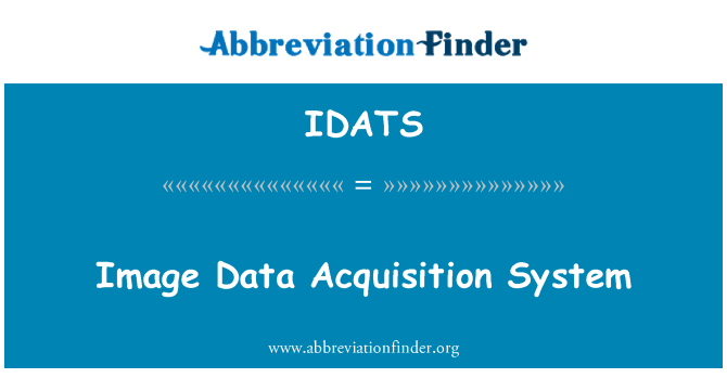 IDATS: Image Data Acquisition System