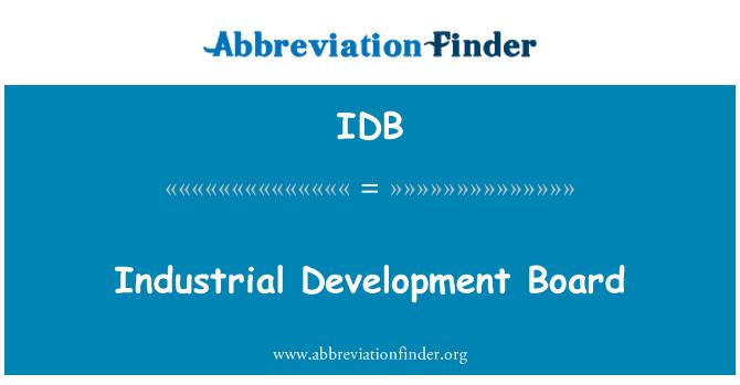 IDB: Industrial Development Board