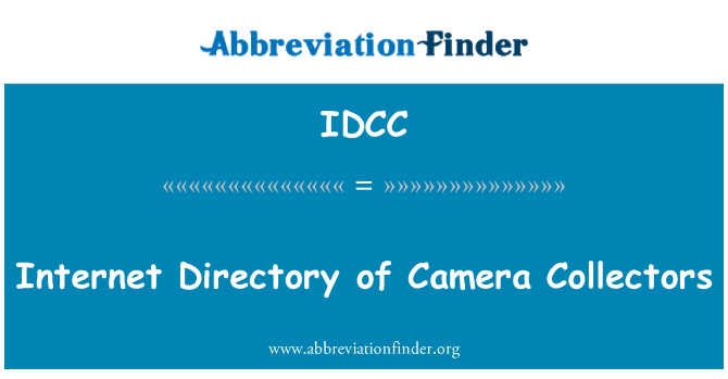 IDCC: Internet Directory of Camera Collectors