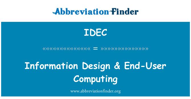 IDEC: Diseño de la información & para el usuario final de computación
