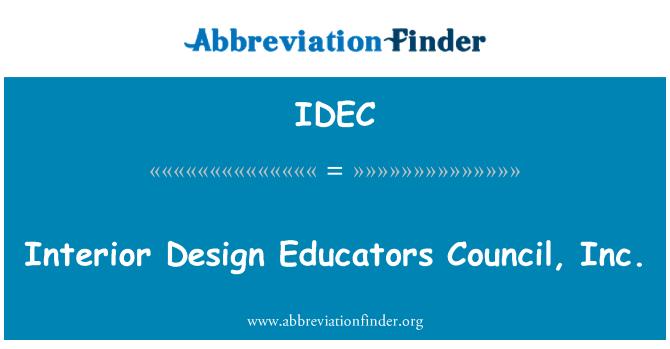 IDEC: Diseño de interiores educadores Council, Inc.