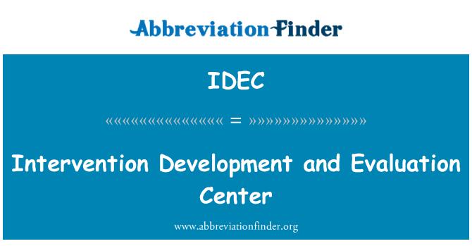 IDEC: Centro de evaluación y desarrollo de la intervención