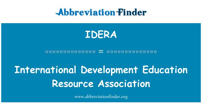 IDERA: International Development Education Resource Association