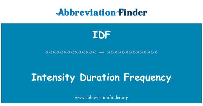 IDF: Intensity Duration Frequency