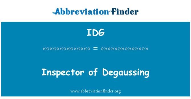 IDG: Inspector of Degaussing