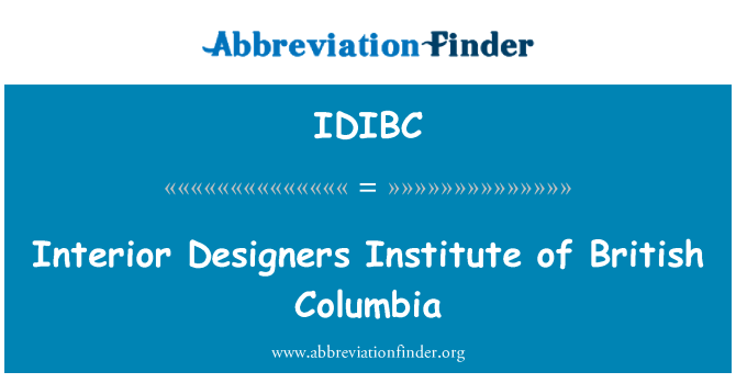 IDIBC: Interior Designers Institute of British Columbia