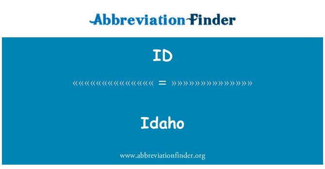 ID: Idaho