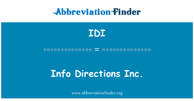 IDI: Info Directions Inc.