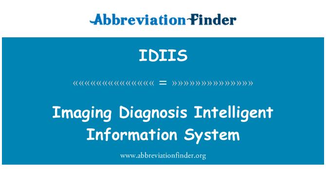 IDIIS: Obrada slike dijagnoza inteligentni informacijski sustav