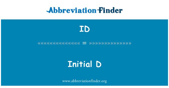 ID: Initial D