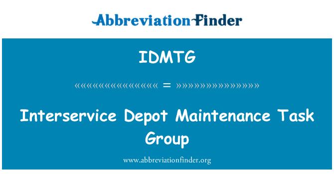 IDMTG: Grupo de tarea de mantenimiento de depósito de Interservice