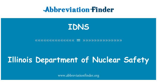 IDNS: Illinois Departamento de la Seguridad Nuclear