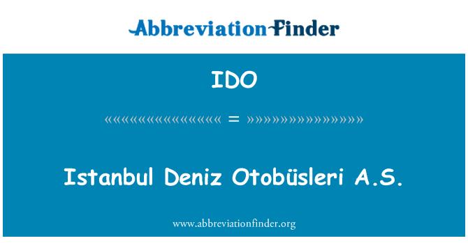 IDO: Istanbul Deniz Otobüsleri A.S.