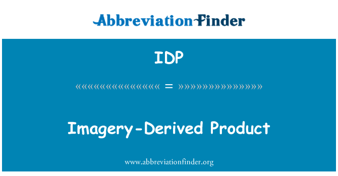 IDP: Imagery-Derived Product