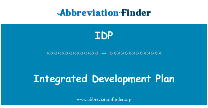 IDP: Integrated Development Plan