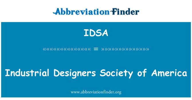 IDSA: Tööstusdisainerid Society of America
