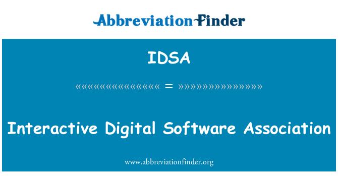 IDSA: Interaktiivne digitaalne tarkvara ühing