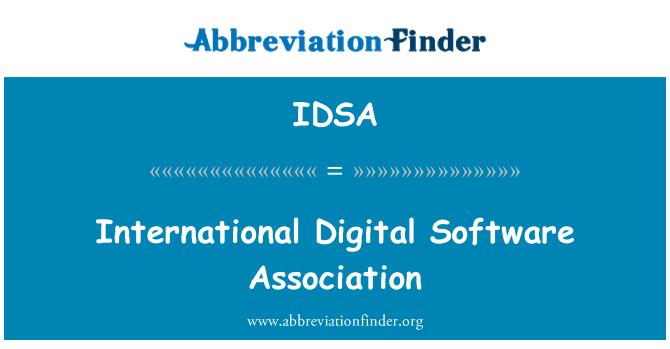 IDSA: Persatuan Antarabangsa Digital perisian