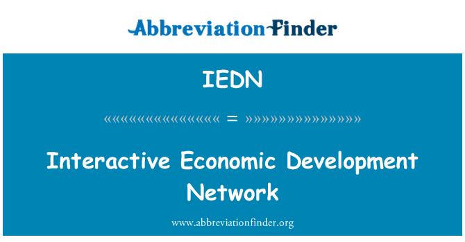 IEDN: Interactive Economic Development Network
