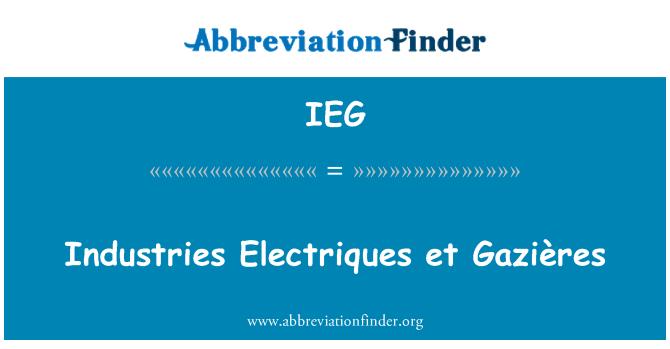 IEG: Industries Electriques et Gazières