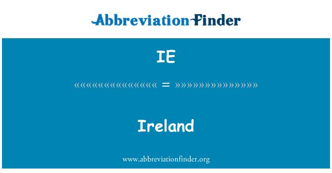 IE: Ireland