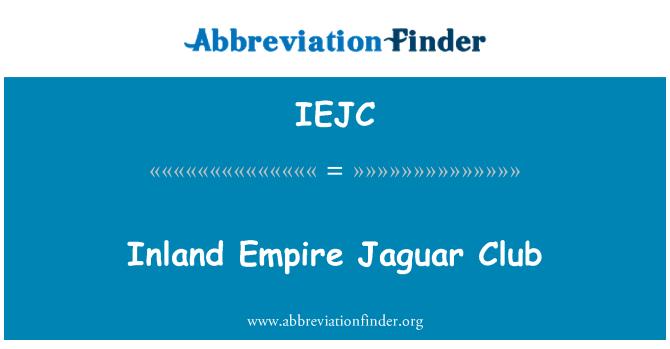 IEJC: Unutarnje carstvo Jaguar Club