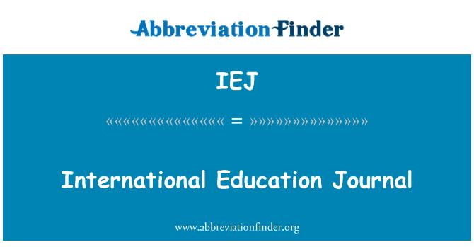 IEJ: International Education Journal
