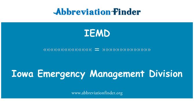 IEMD: Iowa Emergency Management Division
