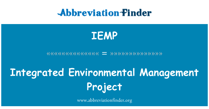 IEMP: Integrated Environmental Management Project