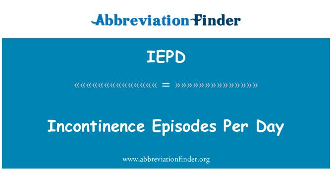 IEPD: Günlük idrar kaçırma bölümleri