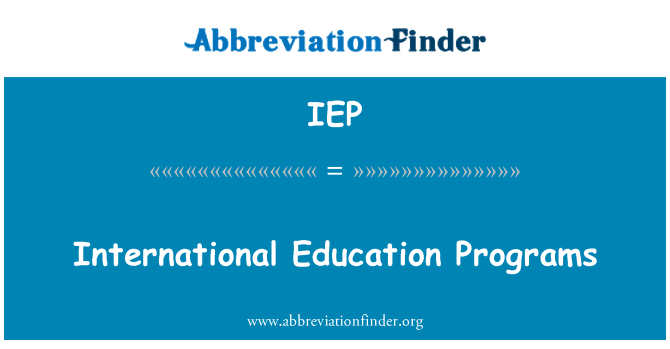 IEP: Programas de educación internacional