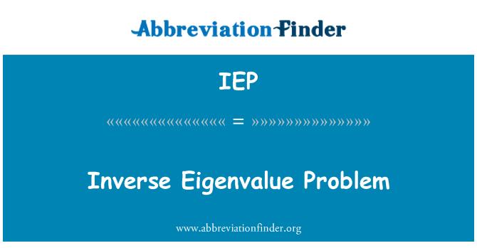 IEP: Problema inverso del valor propio