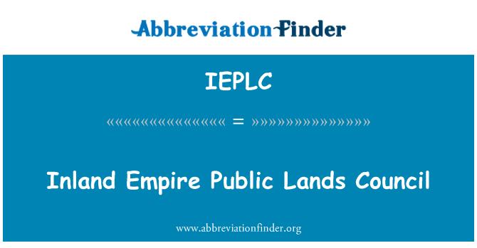 IEPLC: Inland Empire Public Lands Council