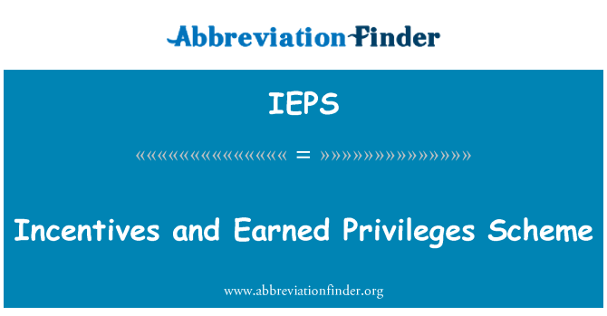 IEPS: Incentives and Earned Privileges Scheme
